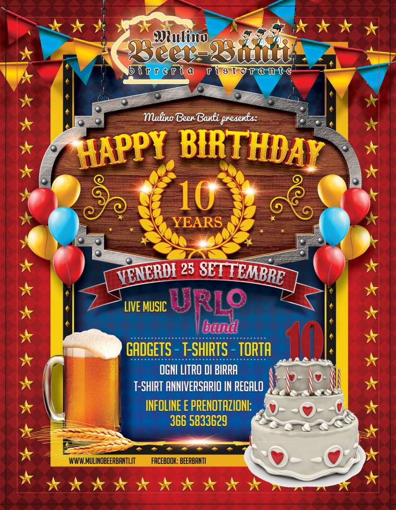 HAPPY BIRTHDAY MULINO! LIVE URLO BAND!