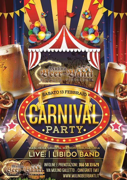 CARNIVAL PARTY con live LIBIDO BAND