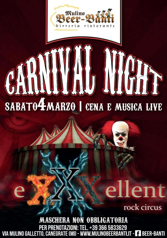 Carnival Night con live music