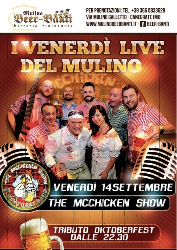 TRIBUTO ALL'OKTOBERFEST con i MC CHICKEN SHOW al MULINO